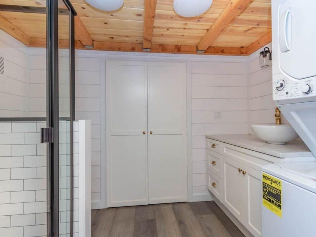 Tiny house bathroom closet