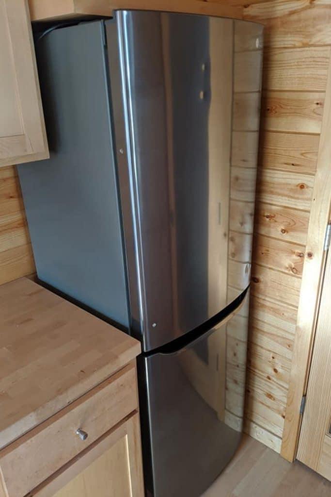 Refrigerator in corner