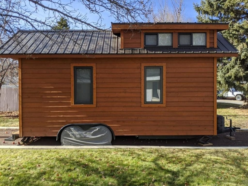 Side of tiny home