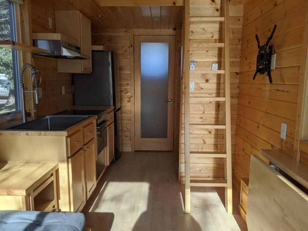 View into tiny house