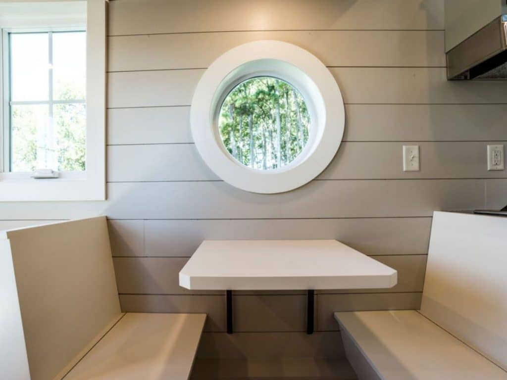 Built in tiny house dining booth