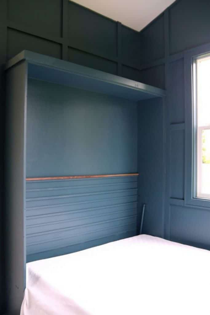 Murphy bed in tiny house