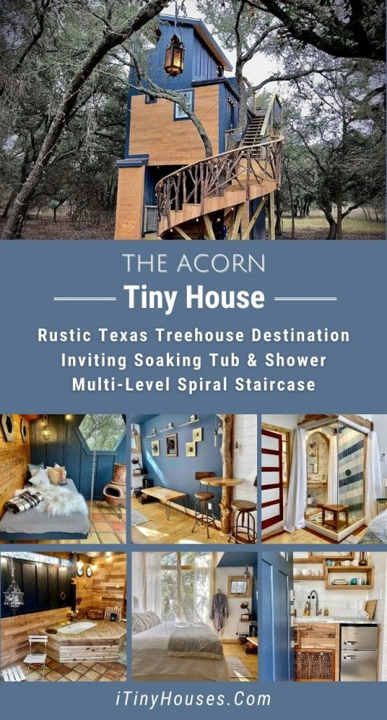 The Acorn tiny home collage image