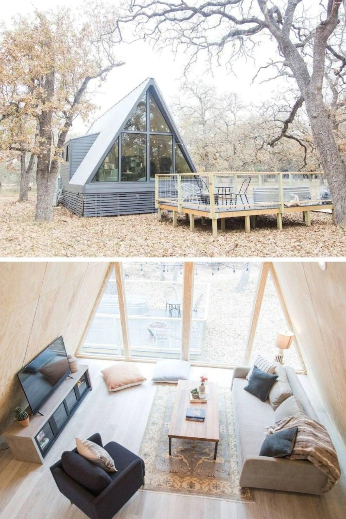 Modern A-Frame Cabin – Fredericksburg, TX