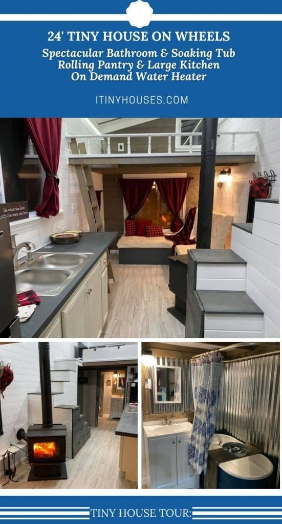 Tiny house on wheels collage