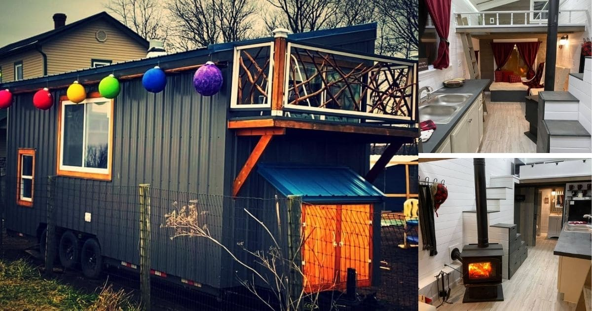 24′ Tiny House on Wheels Has Incredible Two-Person Soaking Bathtub