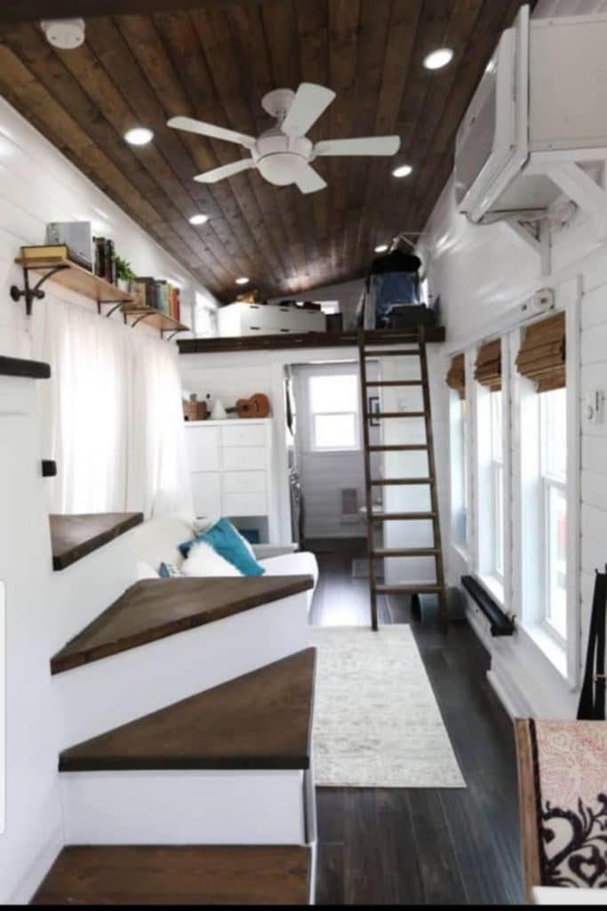 Stairs in tiny home
