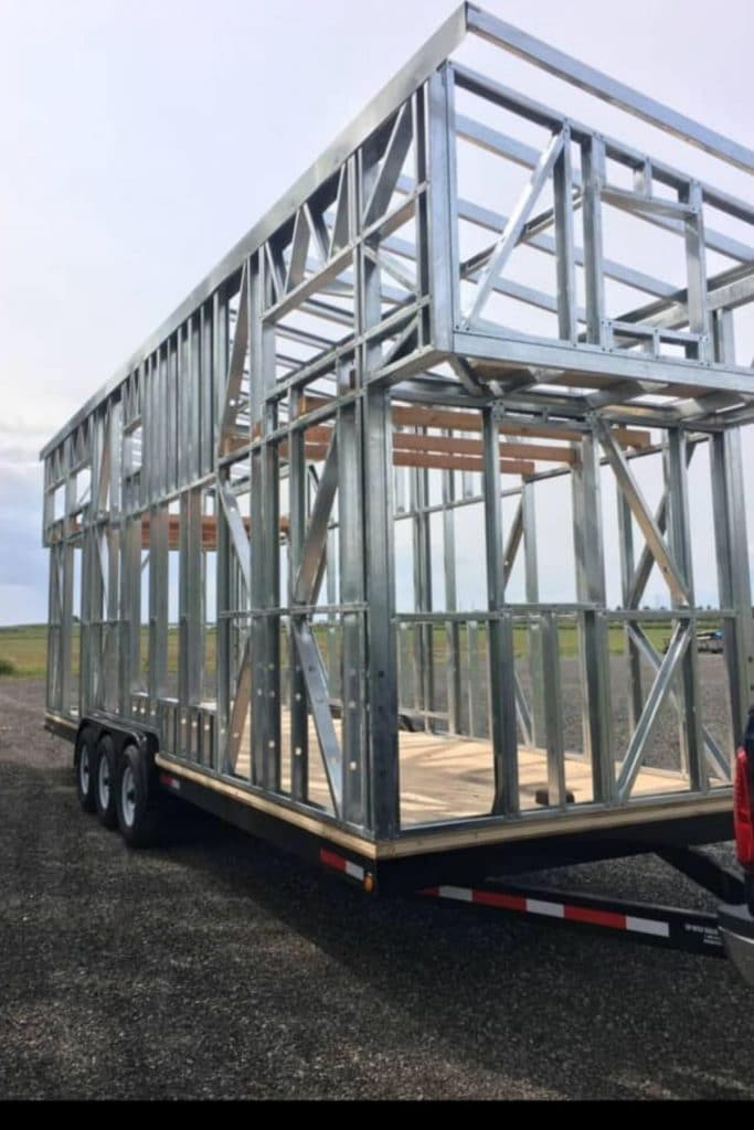 Metal tiny house frame