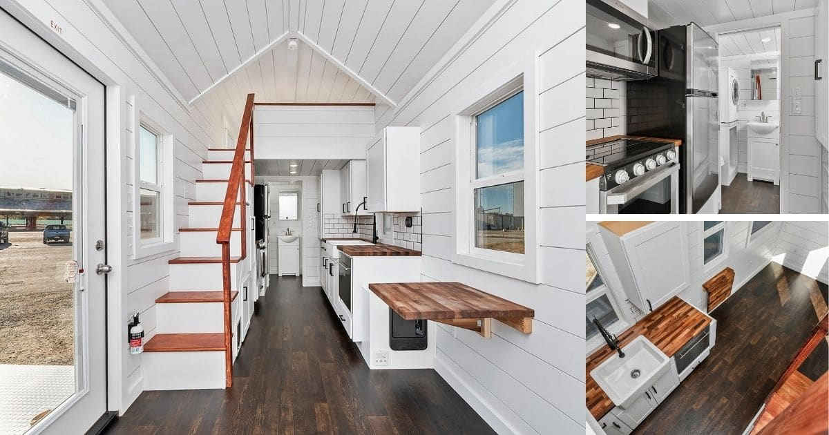 28′ Clear Creek Contemporary Tiny Home is a Study in Modern Style