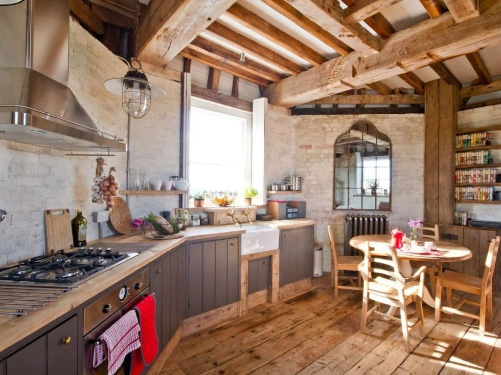 Windmill tiny home kitchen
