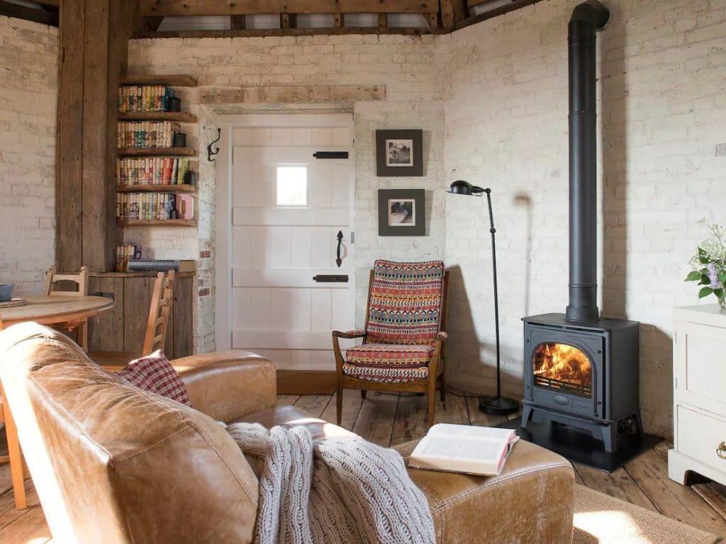 Windmill tiny house living room
