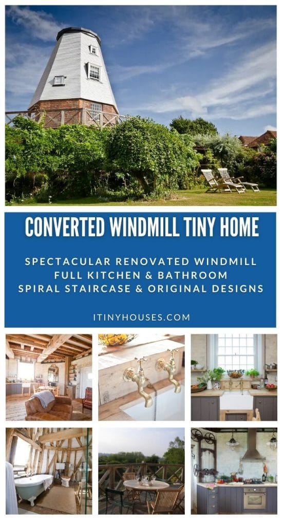 Windmill tiny house collage