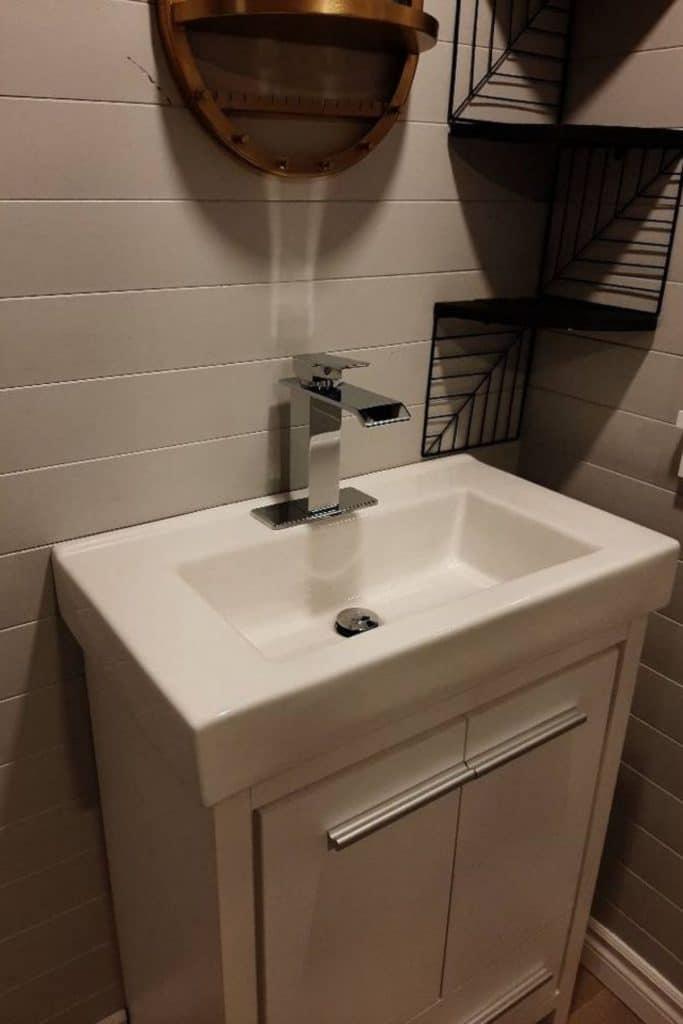 Tiny house bathroom sink