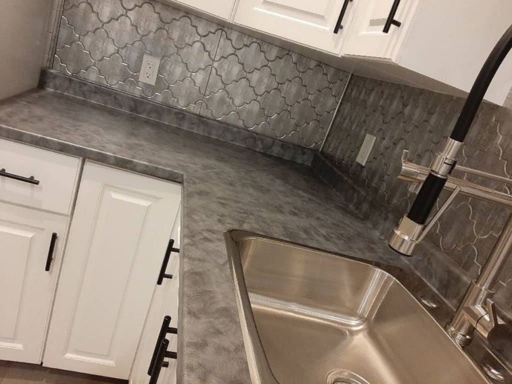 Tiny house kitchen sink