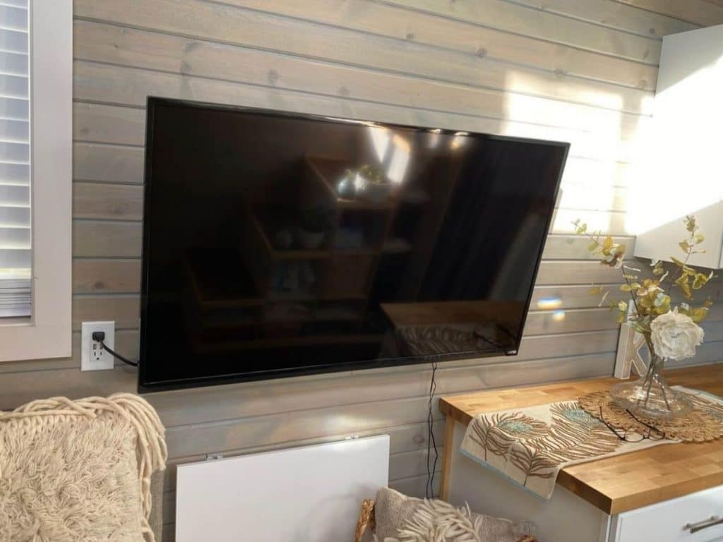 Wall mounted television