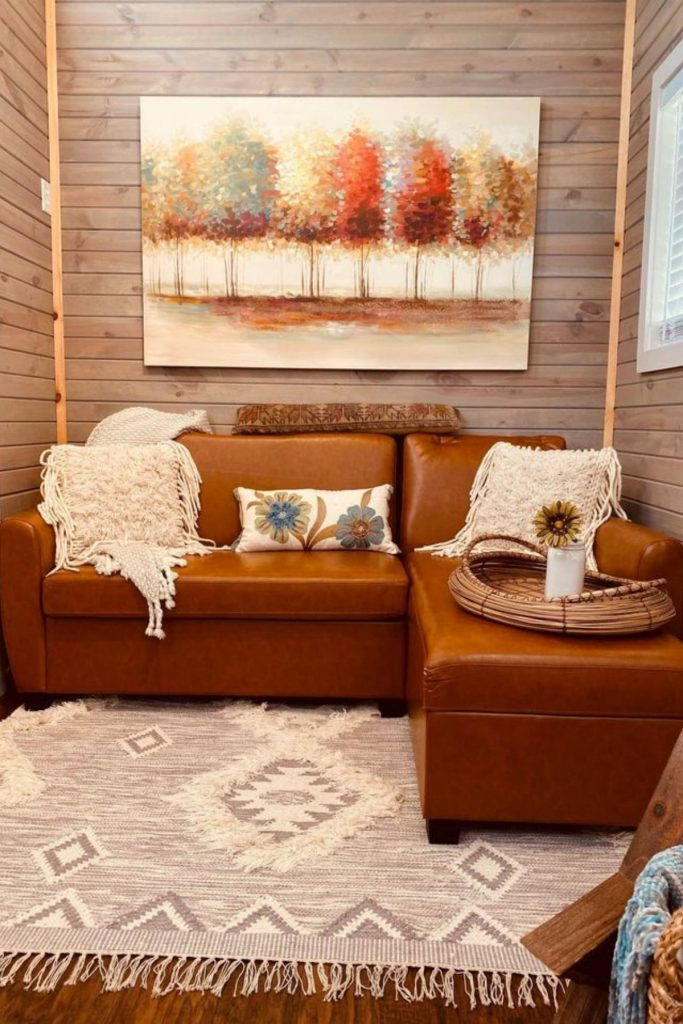 Tiny house living room couch
