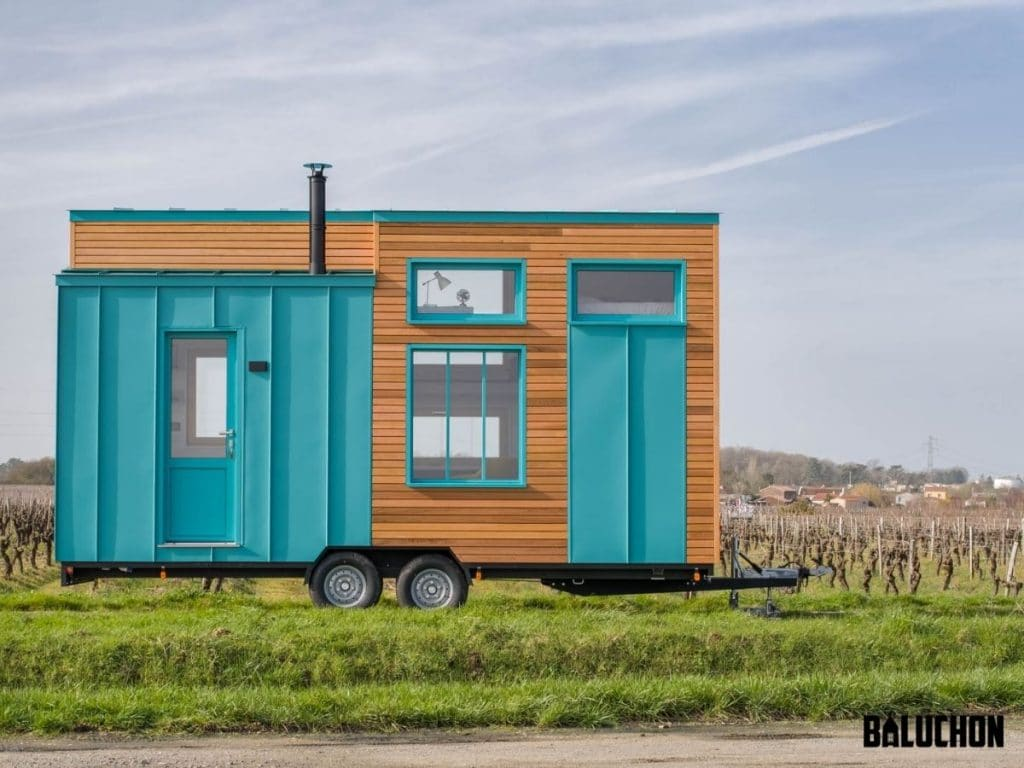 The bold tiny house exterior