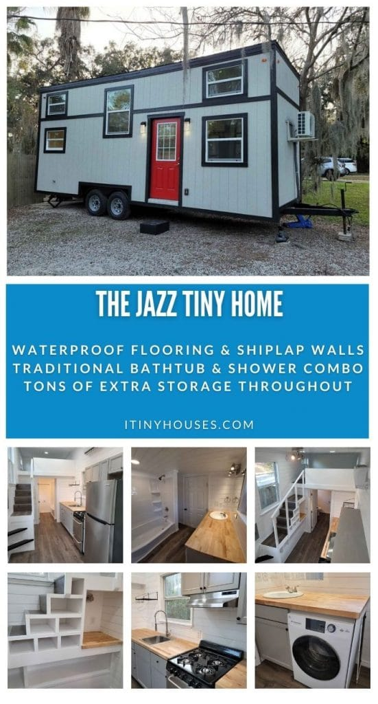 The Jazz tiny house collage
