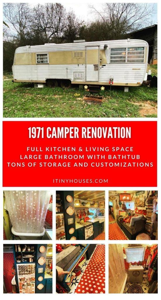 Woman Transforms 1971 Boles Aero Camper Into Modern Tiny Home