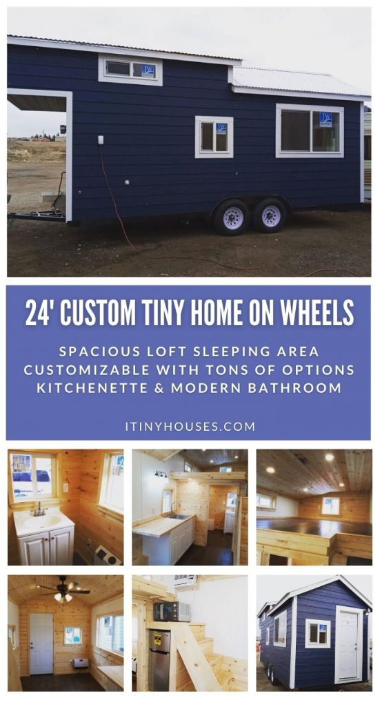 24' Custom Tiny House on Wheels collage