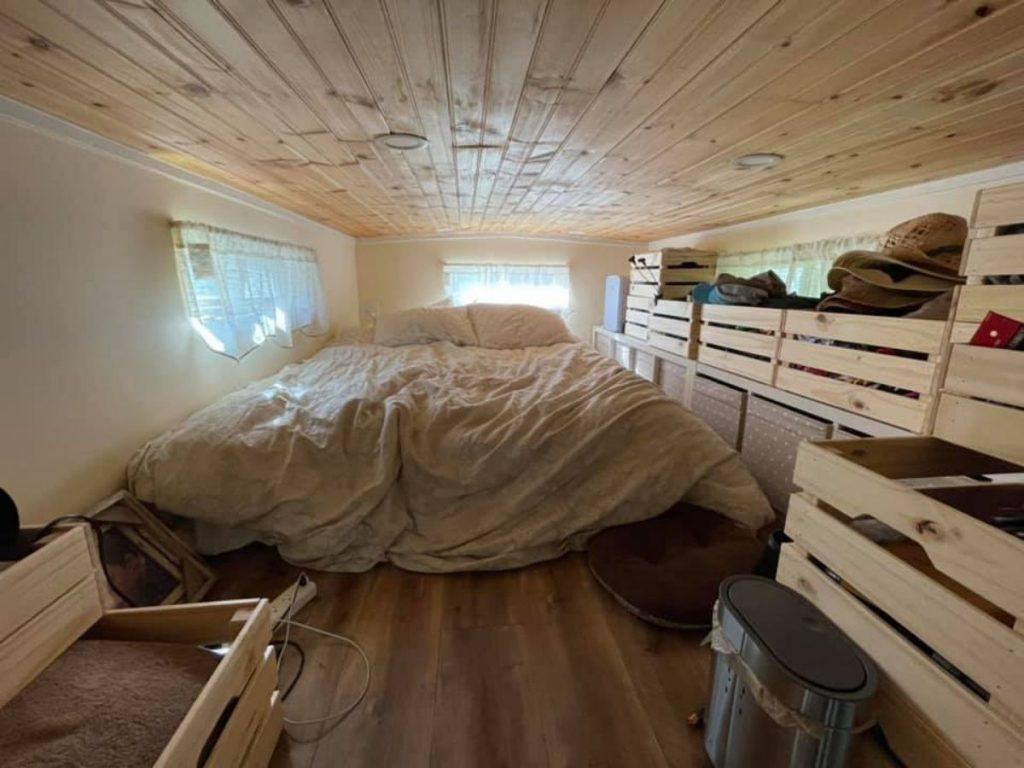 Large bed in loft bedroom
