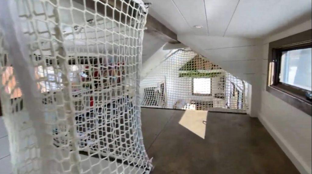Netting in loft area