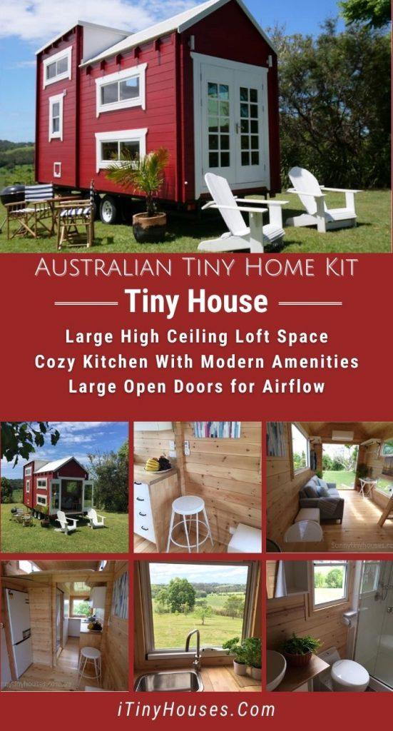Australian tiny house kit collage