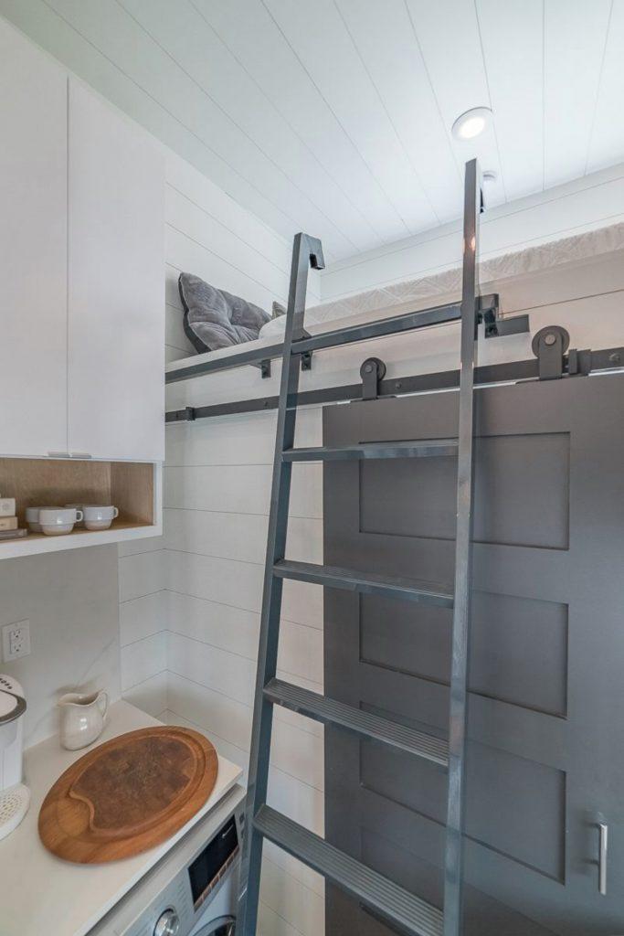 Charcoal grey ladder to loft
