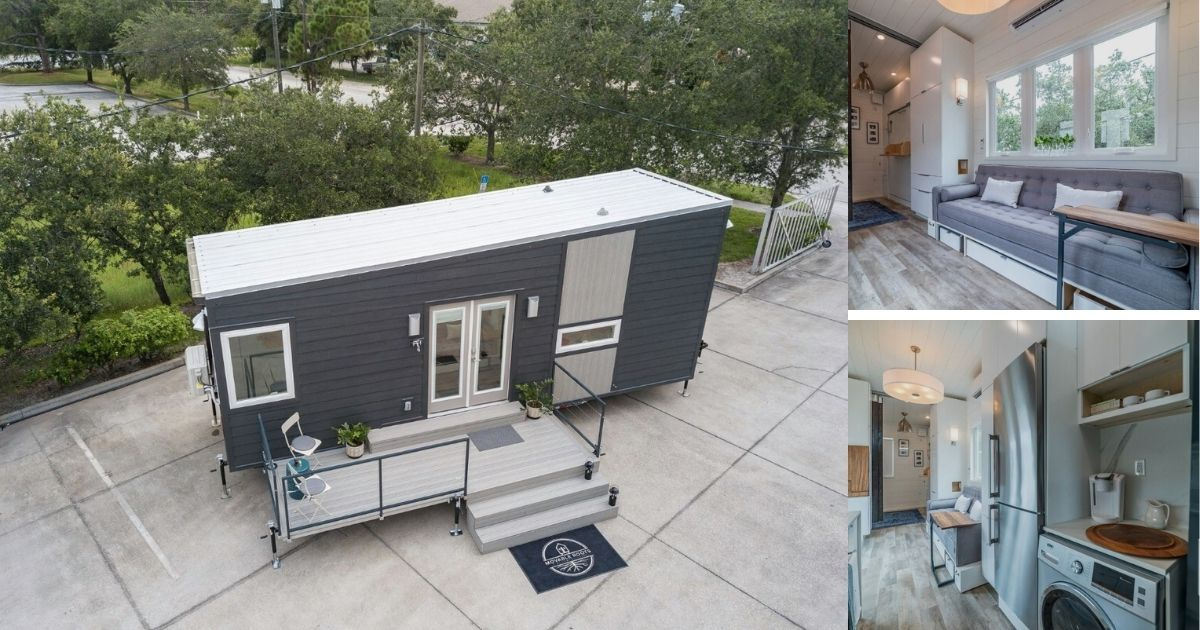 The Boehm is 28′ Ultra-Modern Tiny House with Custom Storage