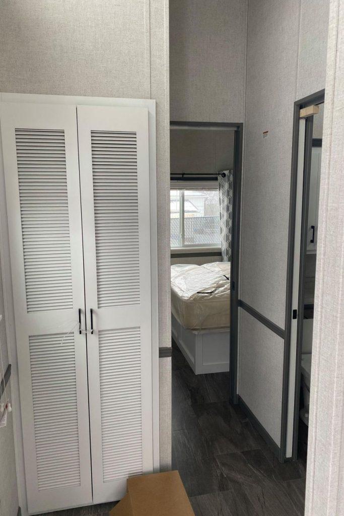 Door into tiny bedroom
