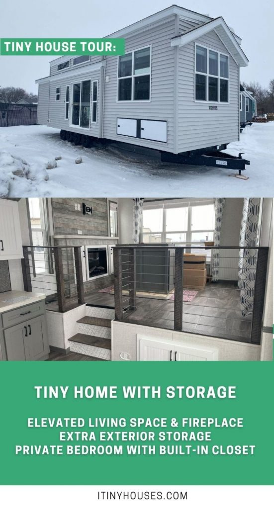 Park model tiny home collage