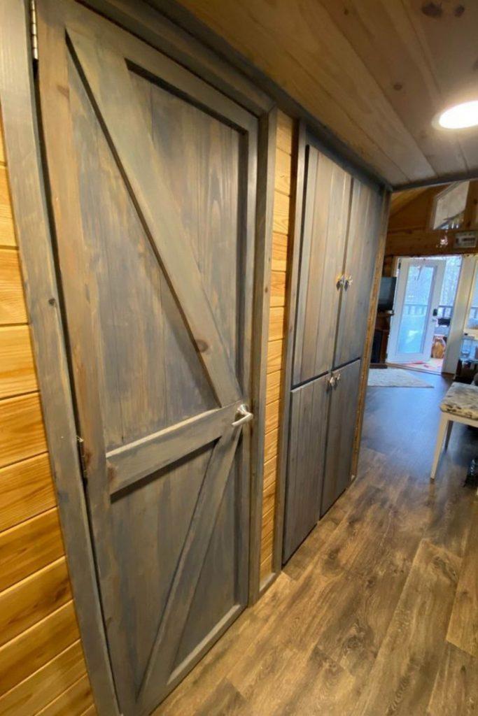 Doors on laundry closet