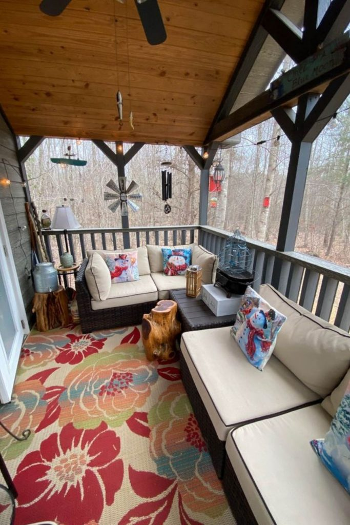 TIny cabin porch