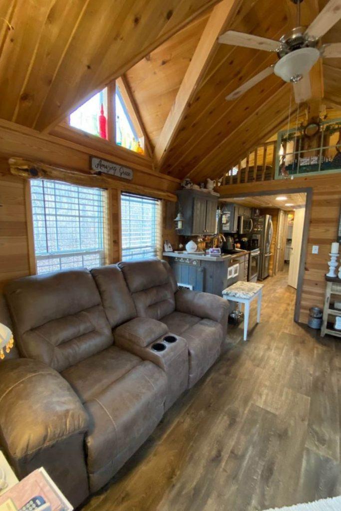 Tiny cabin living room