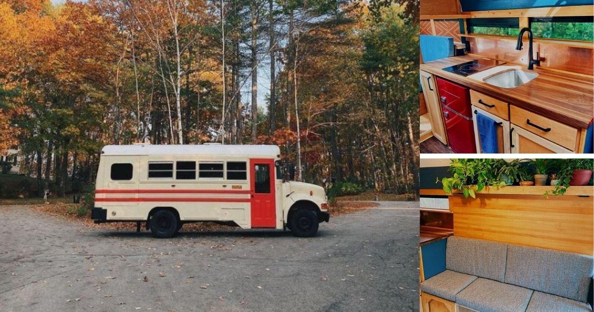 Man Converts School Bus Into Stunning Tiny Home on Wheels
