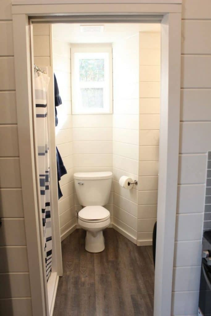 Toilet in tiny house