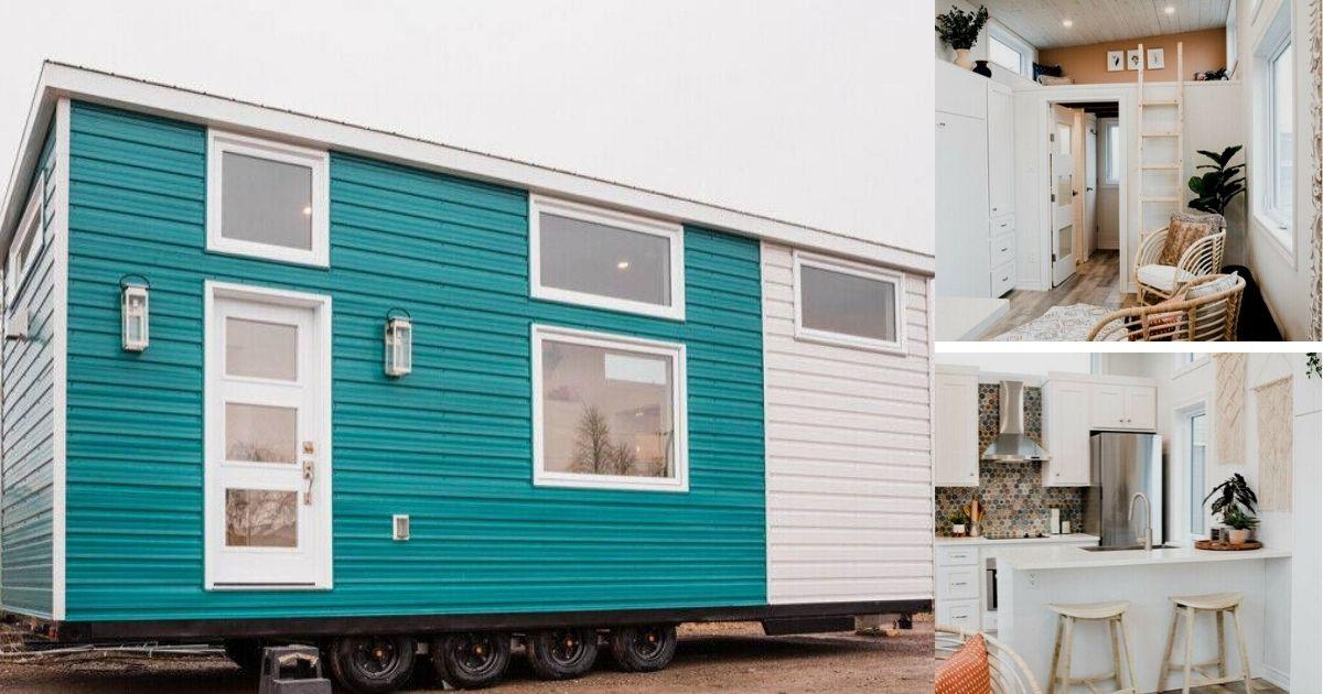 The Beachy Boho is a Stylish Tiny Home Featuring A Luxury Bathroom