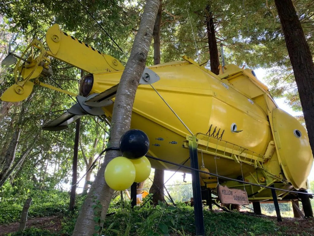 Yellow submarine in forest
