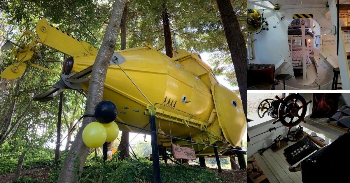 DIY Yellow Submarine is the Ultimate Fantasy Tiny House