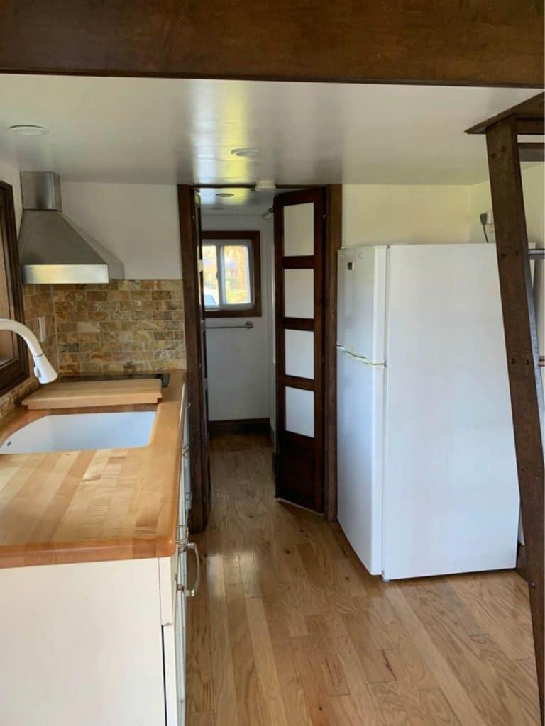 Kitchen with white appliances
