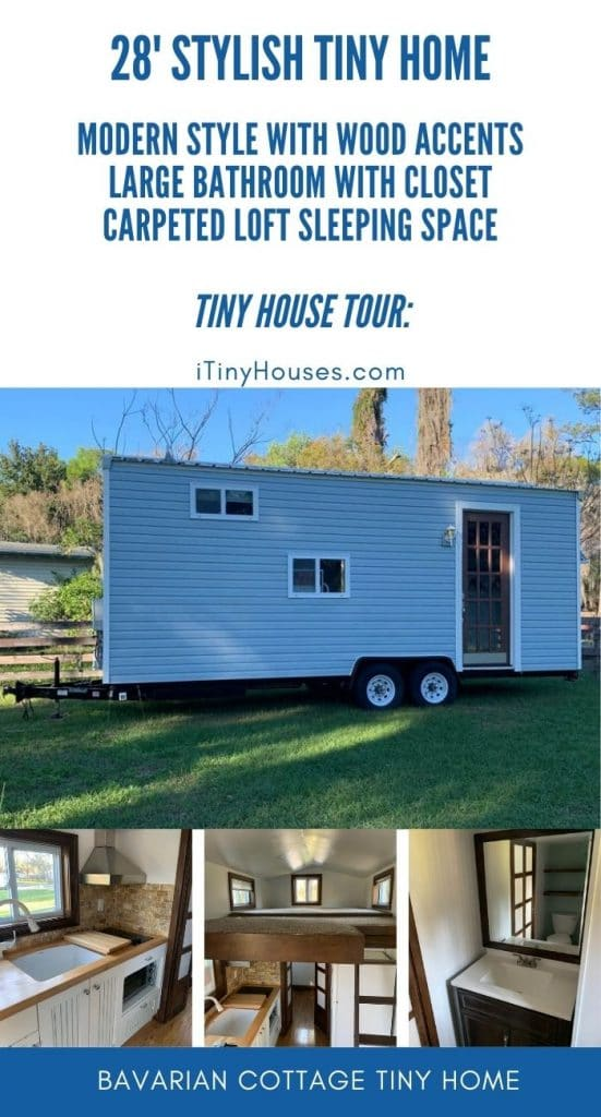 Light blue tiny house collage