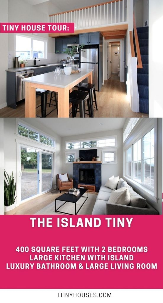 Island tiny interior house pictures collage