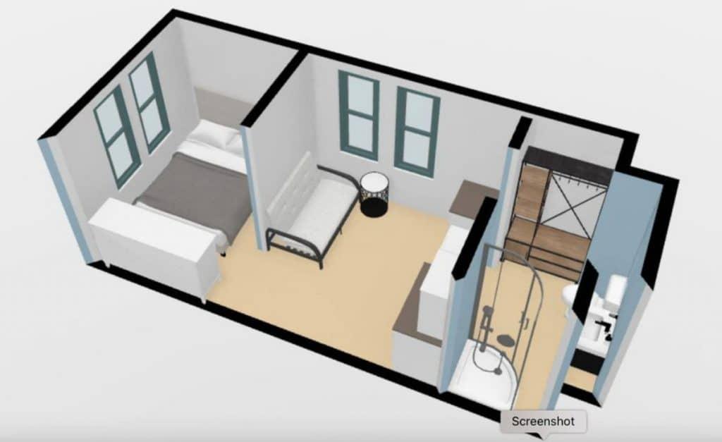 Tiny house floor plan image