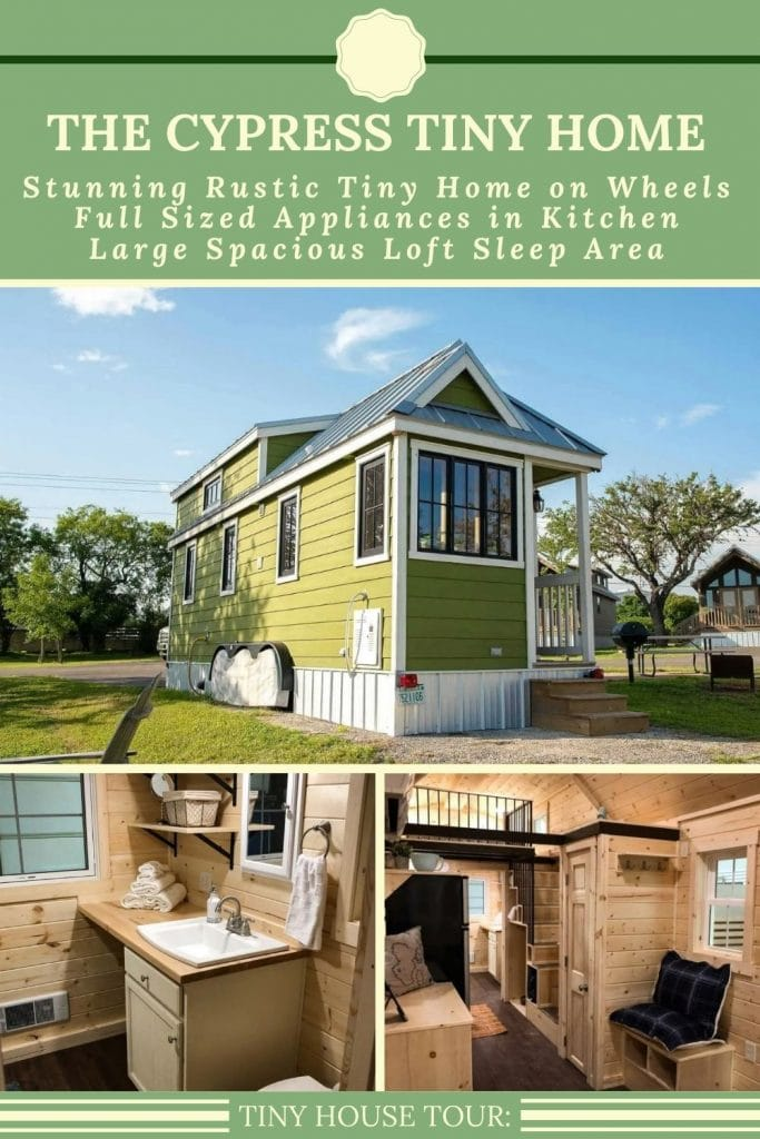Green tiny house collage