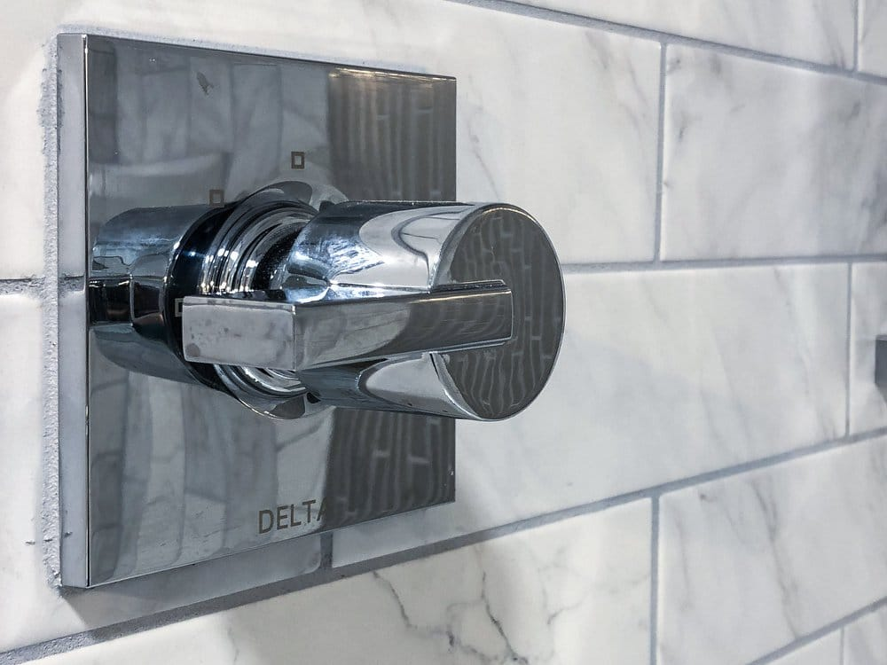 Stainless steel delta faucet