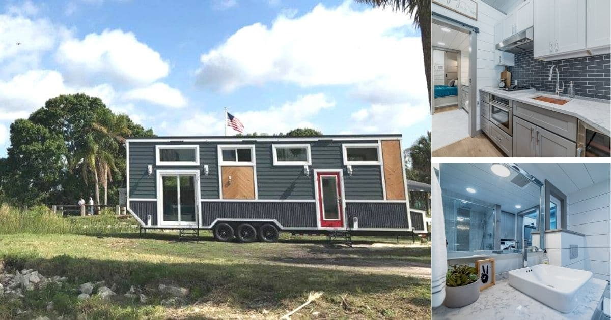 The Lee High-End Tiny Home Screams Luxury Inside and Out