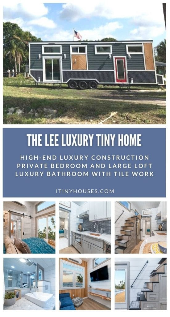 The Lee tiny house collage