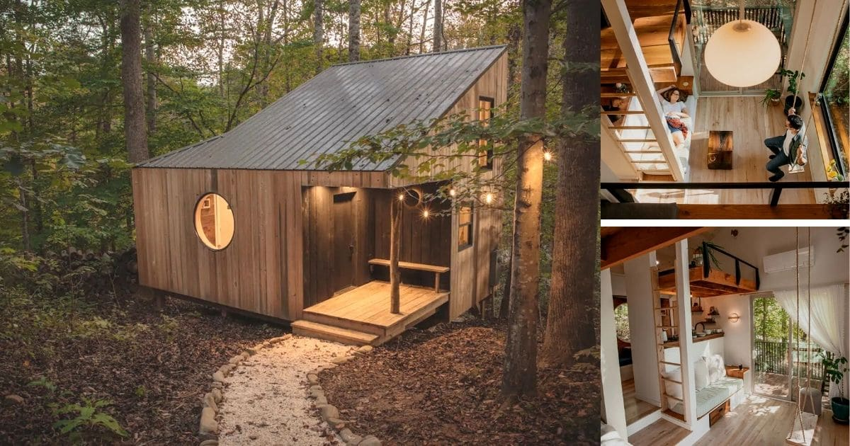 The Nook is a Breathtaking Hand Crafted Cabin Tiny Home