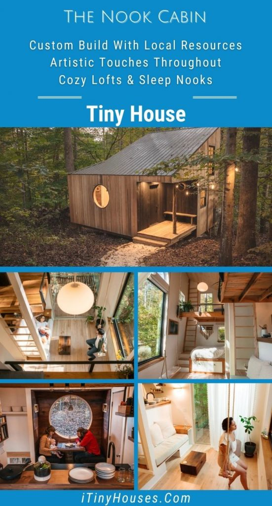 The Nook tiny house collage image