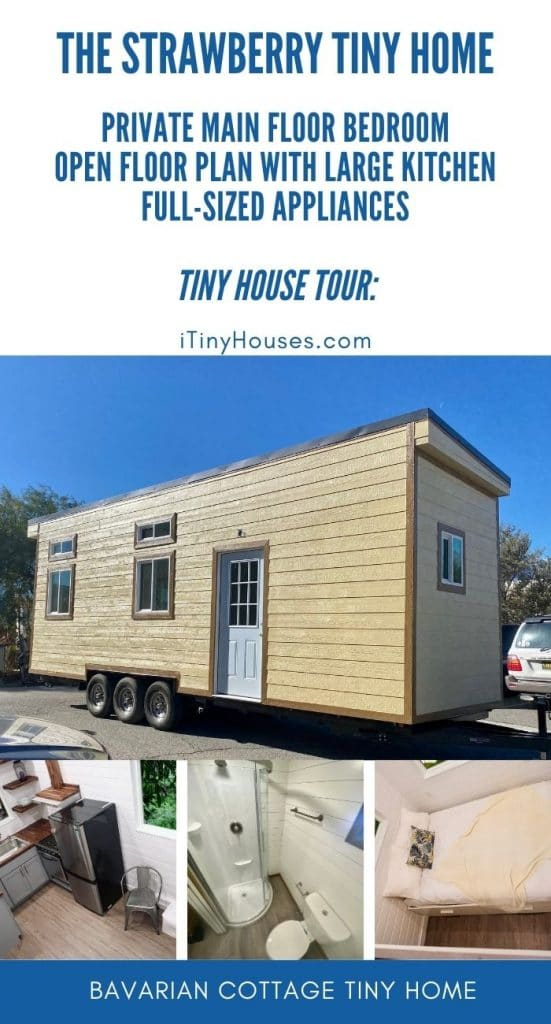 Strawberry tiny house collage
